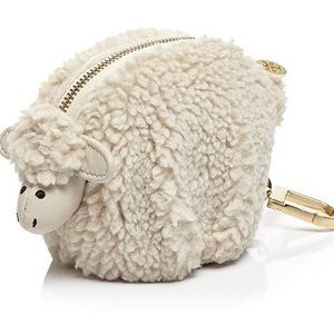 Faux Shearling Larry Lamb Coin Pouch Fob